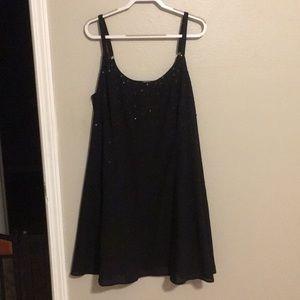 Black Sequined Torrid Slip Dress *New*